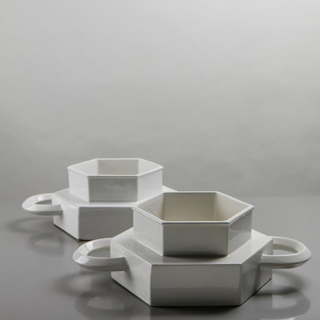 Gabbianelli Pair of Ceramic Centerpieces by Gabbianelli For Sale - Image 4 of 9