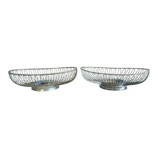 Mid-Century Warren Platner Style Silver Bowl Dish - A Pair For Sale