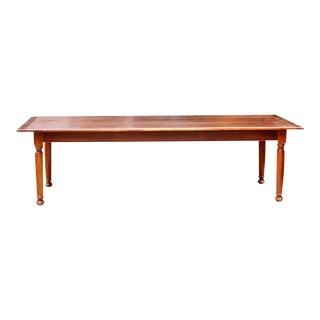 Modern Cherrywood Custom Farm Table For Sale