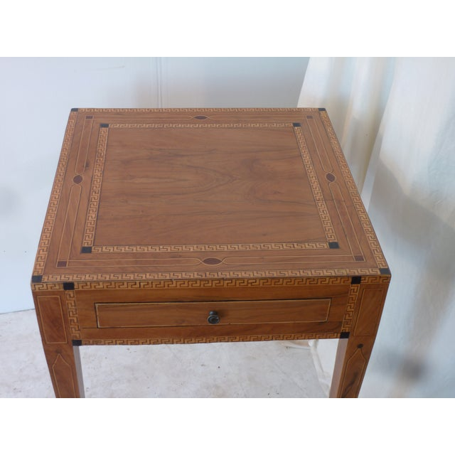 Neoclassical 19th Century Continental Inlay Side Table For Sale - Image 3 of 6