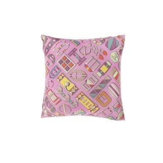 """""""Carre en Boucles"""" Hermès Silk Scarf Pillow For Sale"""