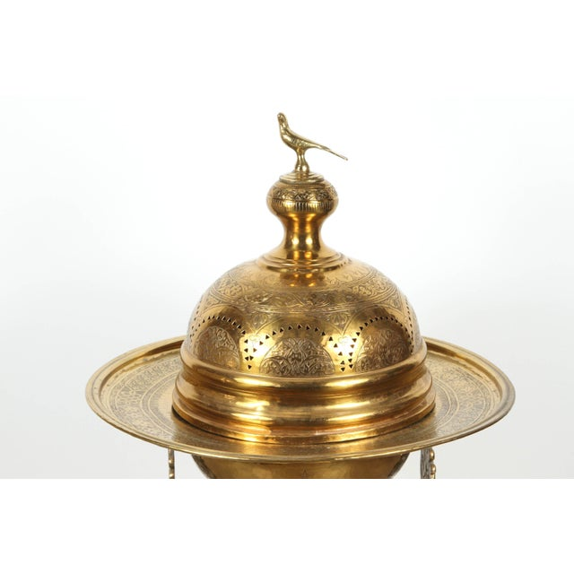 Great large 19th century Middle eastern Moorish Turkish brass brazier, incense burner. This great unique Museum collector...