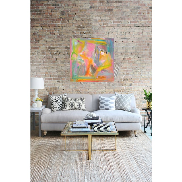 """Abstract """"Midday Miami"""" by Trixie Pitts 36""""x36"""" - Image 3 of 4"""