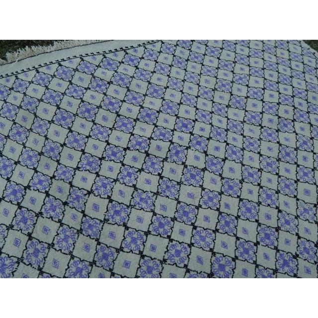 """Textile Vintage Turkish Jajim Flat Weave Rug 4'9"""" X 8' For Sale - Image 7 of 13"""
