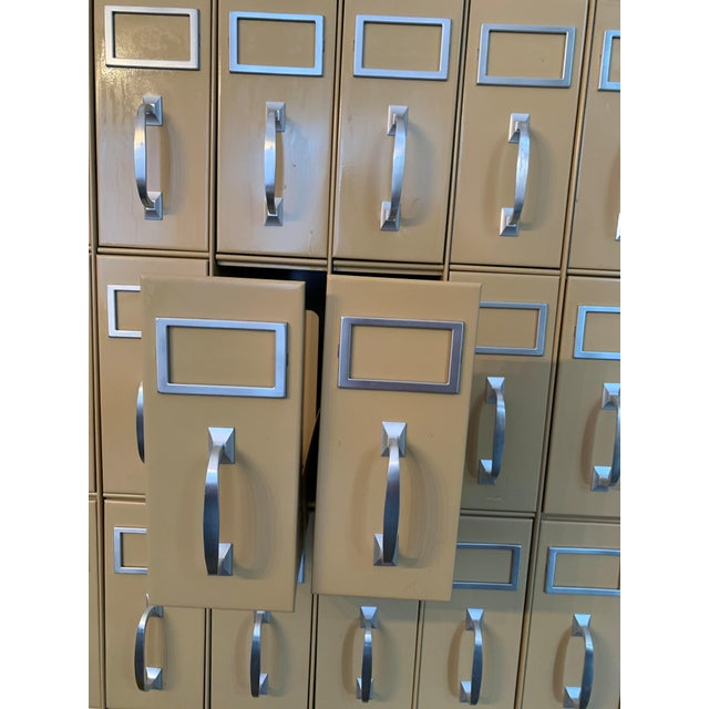 Mid 20th Century Vintage Industrial Filing Cabinet 36 Drawers For Sale In Houston - Image 6 of 9