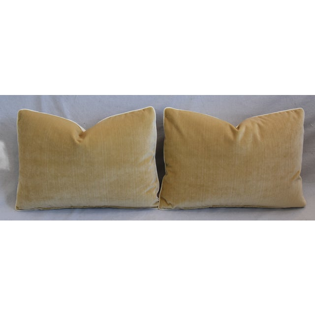 """Brunschwig Fils & Scalamandre Velvet Feather/Down Pillows 23"""" X 17"""" - Pair For Sale - Image 10 of 13"""