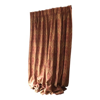 Scarlet Silk Drapes in Yellow and Orange For Sale