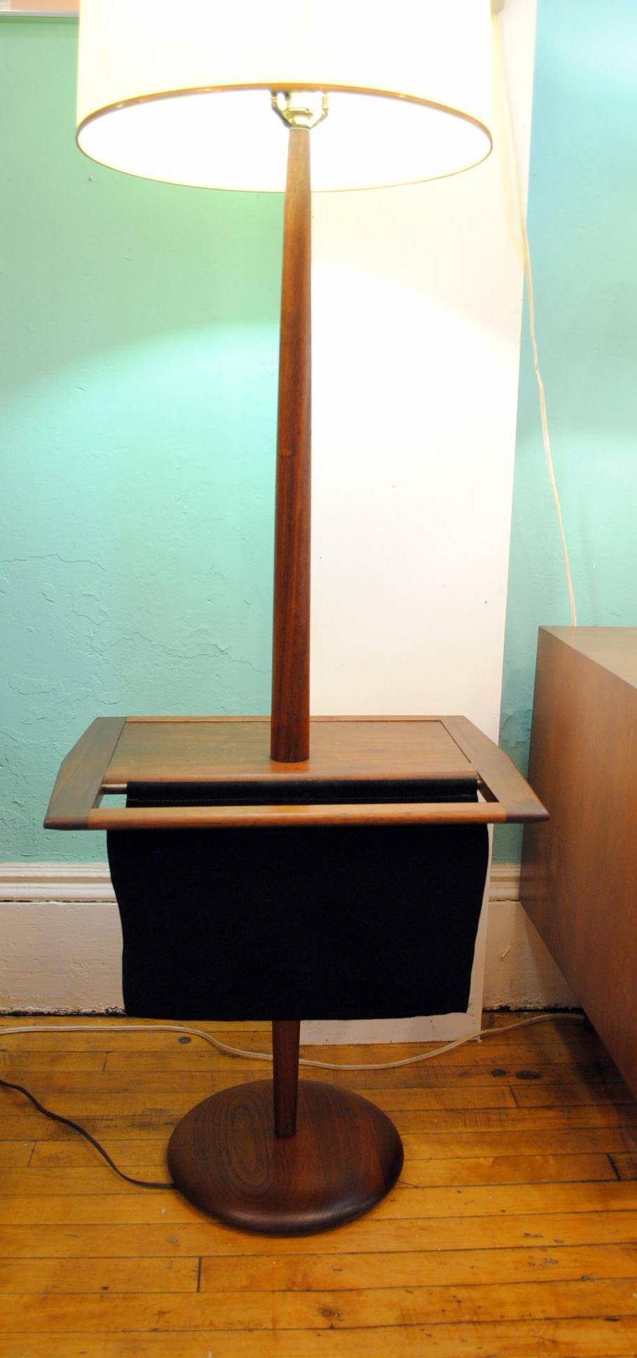 Laurel Mid Century Floor Lamp With Table U0026 Magazine Holder   Image 5 Of 10