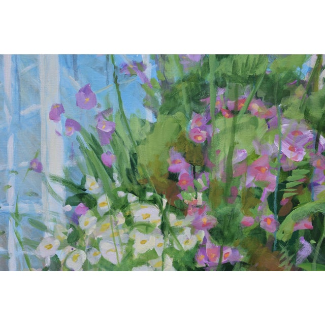"""2010s """"Meet Me at the Greenhouse"""". Large (48"""" X 48"""") Contemporary Painting by Stephen Remick For Sale - Image 5 of 13"""