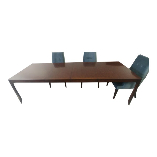 Henredon Furniture Barbara Barry Perfect Parsons Walnut Dining Table For Sale