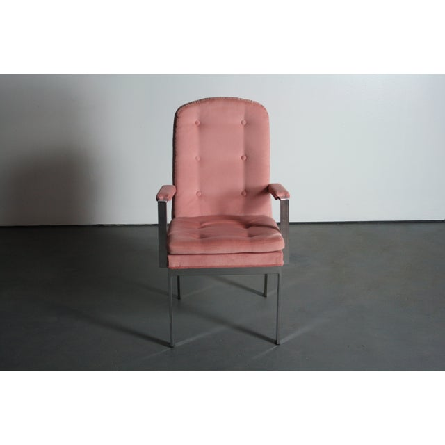 Milo Baughman for DIA Blush Dining Chairs - S/6 For Sale - Image 9 of 12