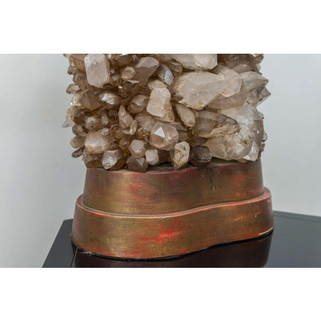 Carole Stupell Rock Crystal Lamp For Sale - Image 5 of 9
