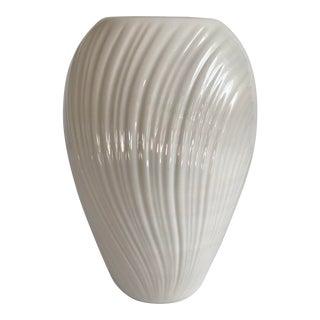 Ribbed Ivory Vase