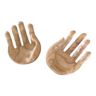 Wooden Hand Bowls - a Pair For Sale