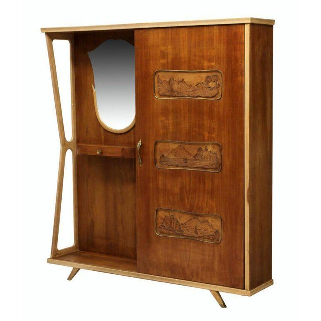 Italian Mid-Century Modern Entryway Coat Cabinet For Sale - Image 4 of 4