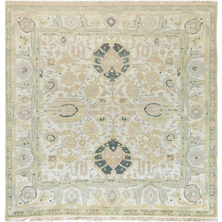 """Mansour Fine Square Handwoven Agra Rug 8'-1""""x8'-1"""" For Sale"""