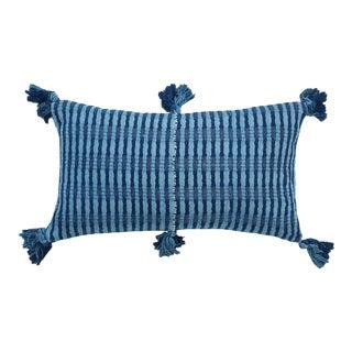 Natural Indigo Stripe Antigua Pillow