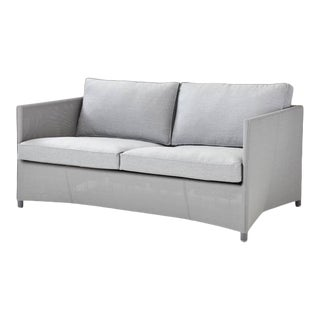 Cane-Line Diamond 2-Seater Sofa, Light Gray For Sale