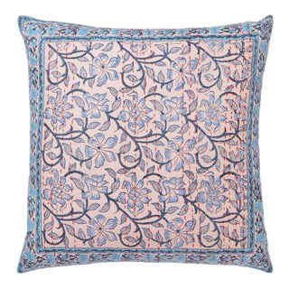 Naaz-Anna Dusty Pink & Gray Hand Stitched Reversible Pillow Cover For Sale