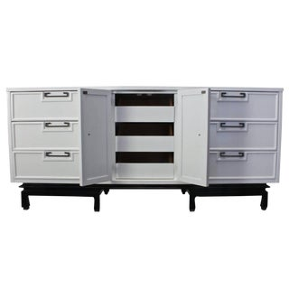 American of Martinsville Dresser in Black & White Lacquer For Sale