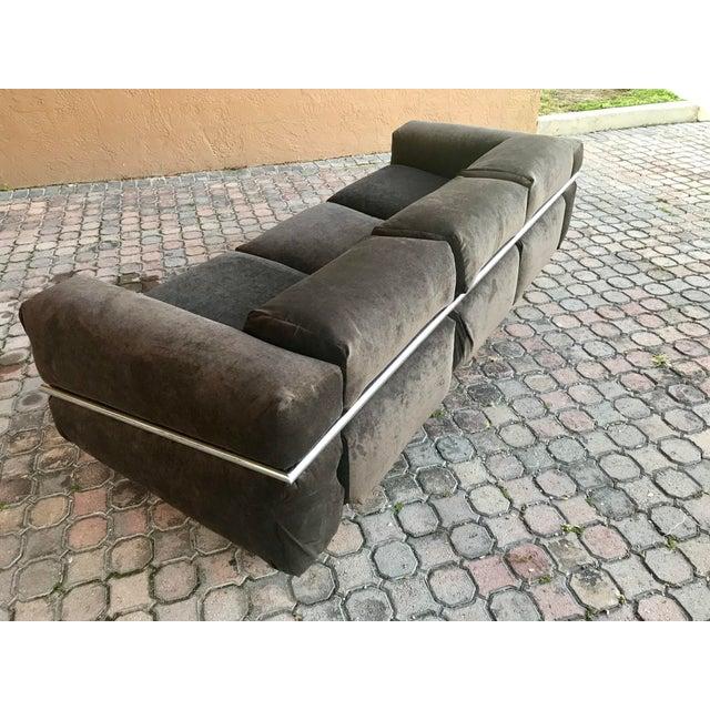 Craft Associates Restored Craft Associates Chrome Sofa For Sale - Image 4 of 9