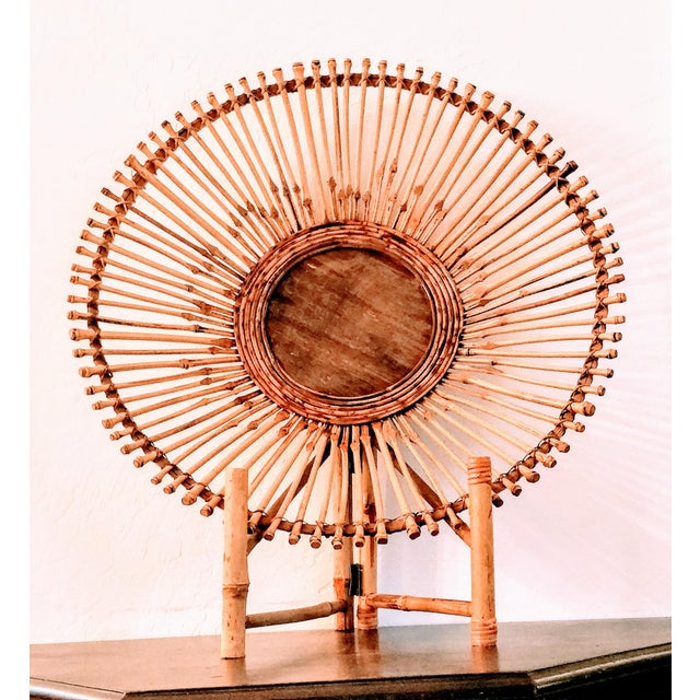 Mid-Century Modern Pencil Reed Bamboo Bowl Centerpiece For Sale - Image 4 of 11