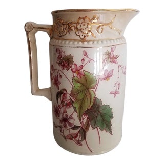 Antique English Staffordshire Pitcher For Sale