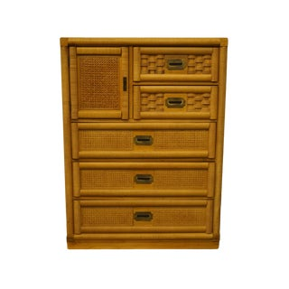 Dixie Furniture Wicker Weve Collection Chest of Drawers For Sale