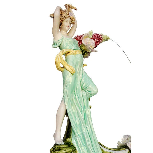 Hans Kieweg Art Nouveau Figural Vanity Mirror for Fraureuth - Image 3 of 10