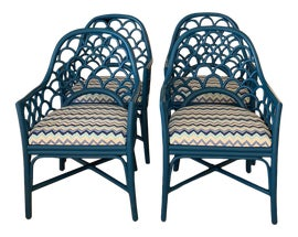 Image of Newly Made Rattan Dining Chairs