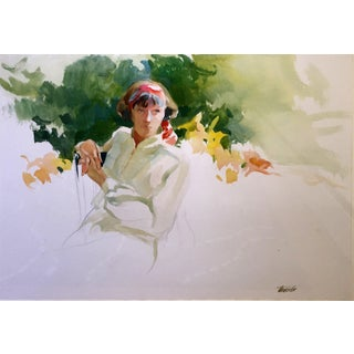 July Sunlight Watercolor by Richard Treaster For Sale