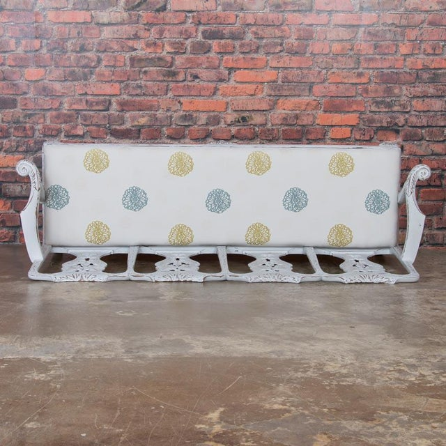 Gray Early 19th Century Antique Light Gray Painted Swedish Gustavian Bench For Sale - Image 8 of 10