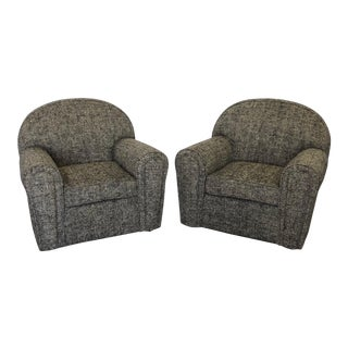 Late 20th Century Vintage Art Deco Arm Chairs- A Pair For Sale