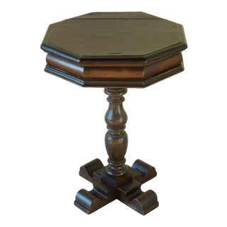 Antique Italian Walnut Pedestal Table For Sale