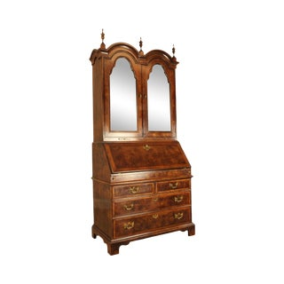 Henredon Aston Court Burl Mahogany Double Bonnet Top Secretary Desk For Sale