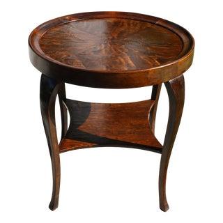 1940s Swedish Art Deco Burl Wood Top Gueridon / Side Table