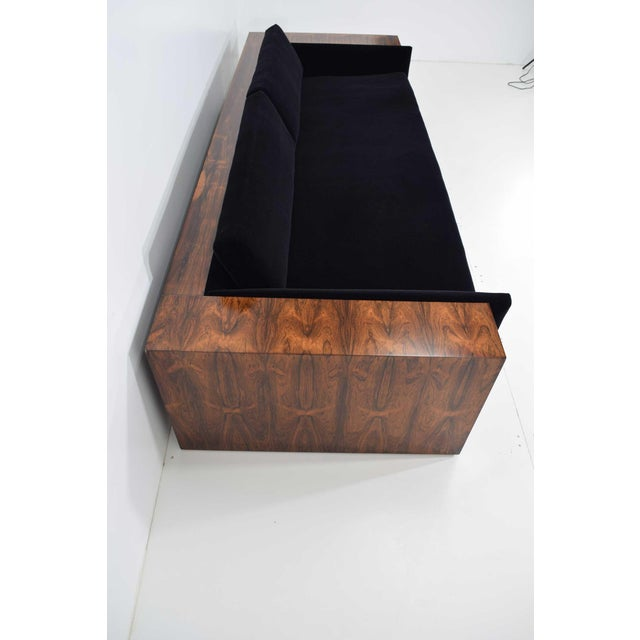 Black Milo Baughman for Thayer Coggin Rosewood Case Sofa in Maharam Mohair For Sale - Image 8 of 13