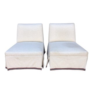 Vintage Mid-Century Edward Wormley Slipper Chairs - A Pair For Sale