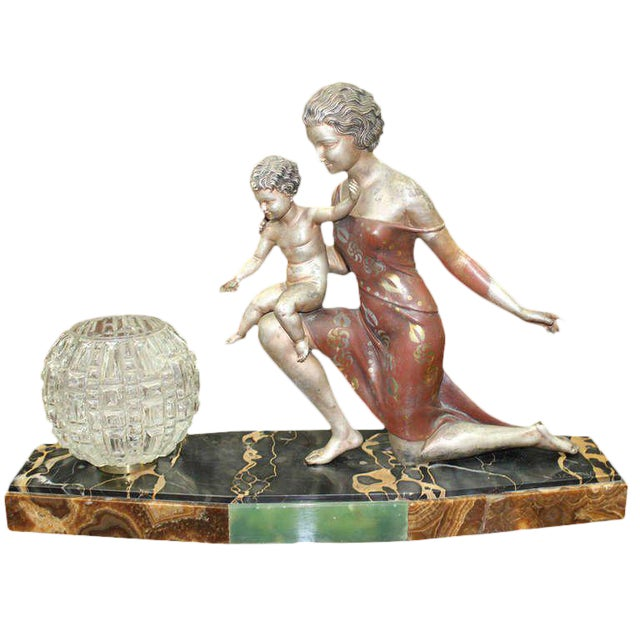 U. Cipriani French Art Deco Lamp Sculpture For Sale - Image 10 of 10
