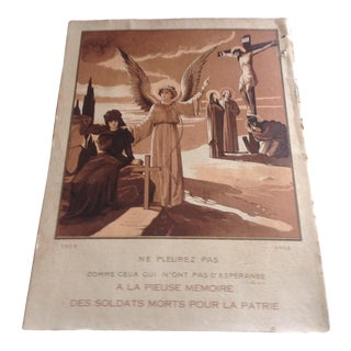 1914-1915 French Memorial Poster For Sale