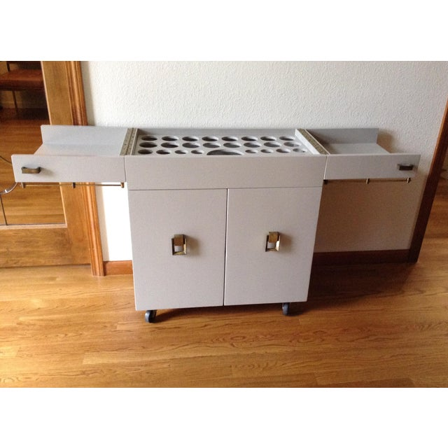 1950s Mid Century Modern Dry Bar For Sale - Image 10 of 12