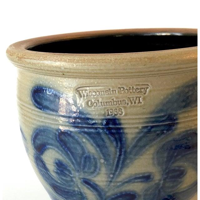 Salt Glazed Mixing or Serving Bowl - Vintage For Sale - Image 4 of 13