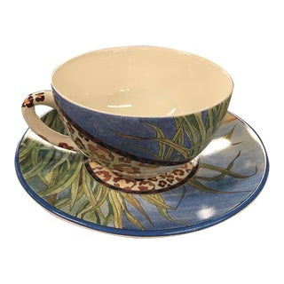 "Gien France ""Savane"" Breakfast Cup"