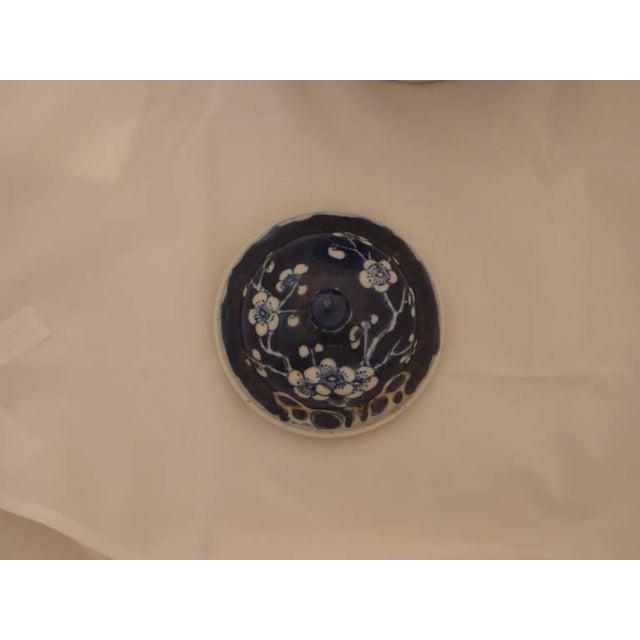 Pair of Blue Porcelain Vases For Sale In Austin - Image 6 of 8