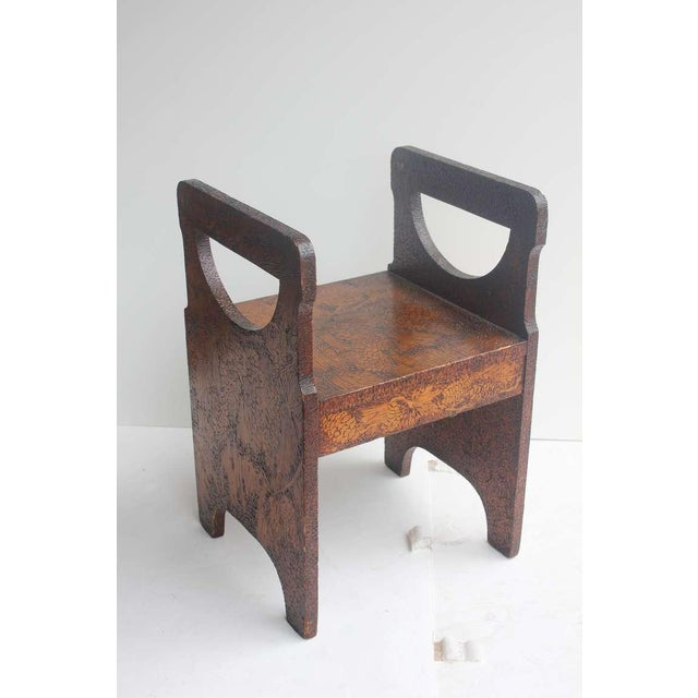 Folk Art Hand Made Wooden Chair/Table - Image 5 of 6