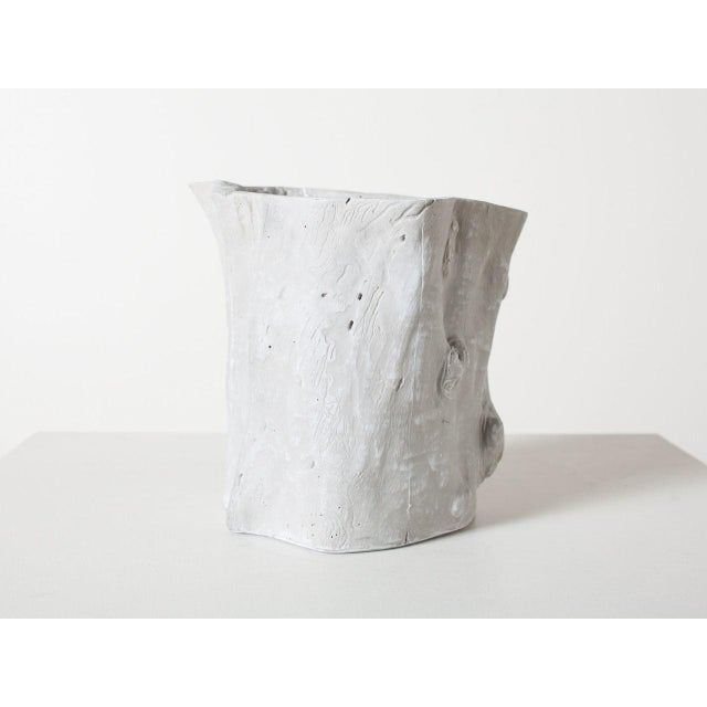 Traditional Traditional Light Grey Resin Tree Hollow Planter For Sale - Image 3 of 6