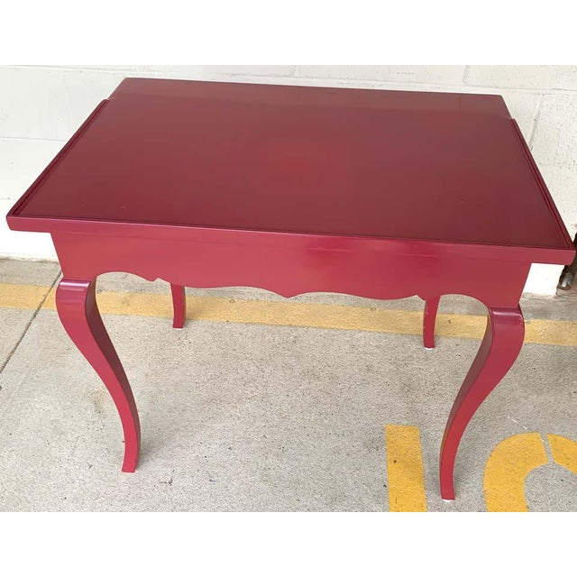 Bold Mauve Lacquered End/ Nightstands Tables For Sale - Image 9 of 10