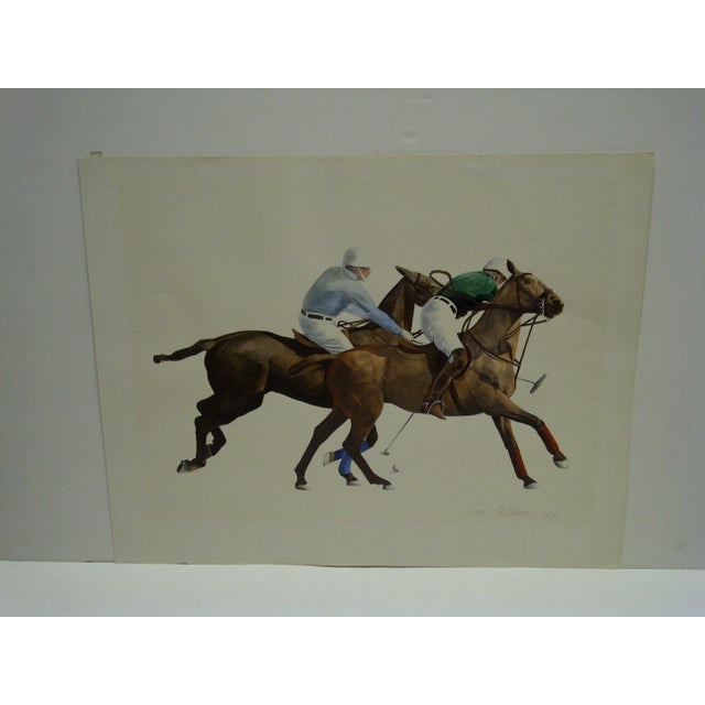 """This is an Original Signed Print Artists Proof -- Titled """"Polo"""" -- By Anne Lattimore"""