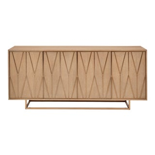 Elora Buffet, Taupe Grey, Brass For Sale