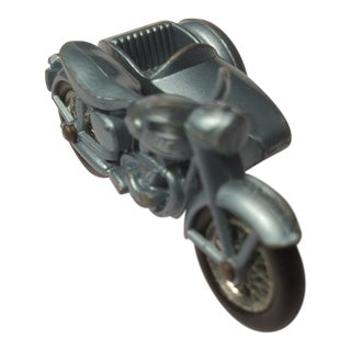 Matchbox No.4 Blue Triumph Motorcycle With Sidecar